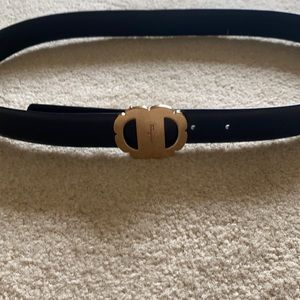 Ferragamo vara flower buckle reversible belt